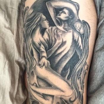 Alexander's tattoo.