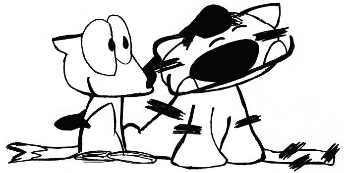 Franky Banky petting Ti-Ger